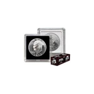 BCW 2x2 Coin Snap Holder Large Dollar (38.1mm) Bundle of 25