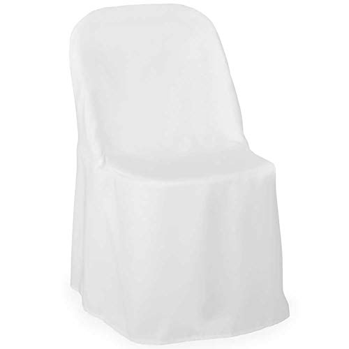 Lann's Linens - 10 Elegant Wedding/Party Folding Chair Covers - Polyester Cloth - -