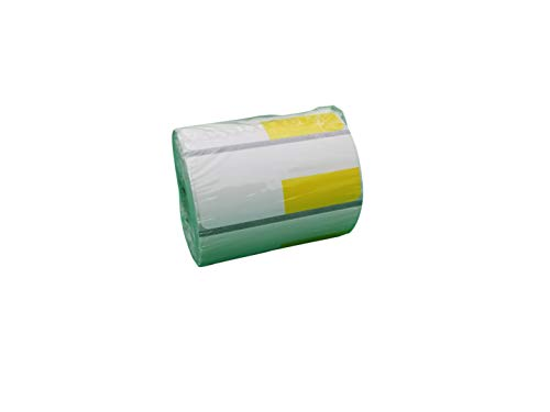 Zebra 2 5/8 x 1 1/8(2.25 x 1.25) inch Direct Thermal Polypropylene Labels 4000D, Yellow(Left Top) Price tag, Direct Thermal Label, 500 Per Roll, 24 Rolls/Box by VisionTechShop (Image #5)