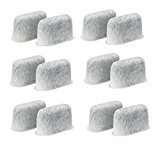 Replacement Charcoal Water Filters -Removes Chlorine, odors, and others impurities from Water-for Coffee Machines- Set of 12 pack