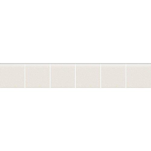 Keystones Unglazed Arctic White 2 in. x 12 in. x 6 mm Porcelain Mosaic Bullnose Floor/Wall Tile