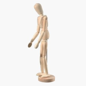 6 Pack WOODEN MANNEQUIN 12in UNISEX Drafting, Engineering, Art (General Catalog) by Heritage by Heritage Products