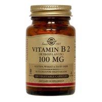 Vitamin B2 (Riboflavin), 100 mg, 100 V Caps by Solgar (Pack of 6) by Solgar