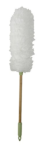 Evriholder Bamboo Naturals Greenery Collection Microfiber Duster Cleaning Tool with Handle Made of Sustainable Bamboo ()