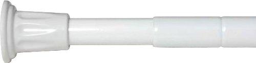 Croydex - Asta telescopica per tende doccia, estensibile da 700 mm a 1220 mm, colore: Argento AD100000