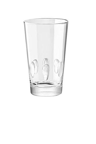 Barski - European Glass - Hiball Tumbler- Stackable - Won't Get Stuck - 10 oz. - Set of 6 Highball Glasses - Made in Europe