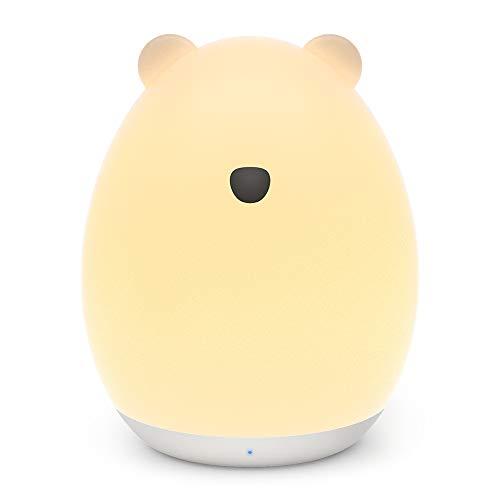 VAVA 可愛いくま型 ナイトライト ベッドサイドランプ 【タッチコントロール 授乳用 七色変換 USB充電 子供安全素材】 間接照明 テーブルランプ プレゼント VA-CL012 (ホワイト)