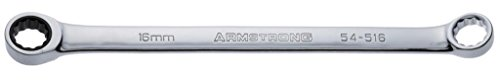 Armstrong 54-516 16mm 12 Point Full Polish Double Box Ratcheting Wrench - Armstrong Industrial Hand Tools