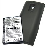 Mobile Battery 2600mAh Li-ion for Xperia X10, Xperia X10a, Xperia X10i Extended Battery with Black Color Back Cover