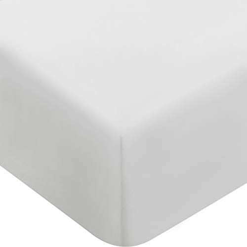 Utopia Bedding Fitted Sheet (Twin - White) Deep Pocket, Brushed Microfiber, Wrinkle -