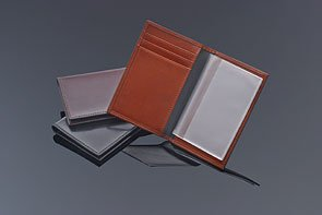 Bosca Men's Genuine Leather 8 Pocket Credit Card Case (Cognac Brown)