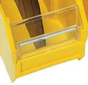 Window For Quantum Ultra Clearview Poly Bins - 8-1/4''Wx3''H
