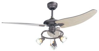 Micromark maine 48 ceiling fan with 3 light spotlight fitting micromark quotmainequot 48quot ceiling fan with mozeypictures Choice Image