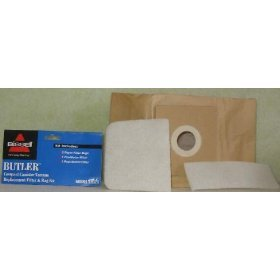 Bissell Butler Compact Canister Replacement Vacuum Cleaner Bags - 32023 (Butler Canister)
