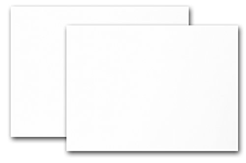 Super Smooth 100# White 5x7 Blank Flat Cardstock- 100 Pack