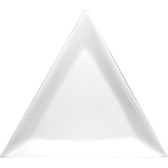 White Triangle Plates Crockery Dinner Set - 18cm 7u0026quot; ...  sc 1 st  Amazon UK : triangle dinner plates - pezcame.com