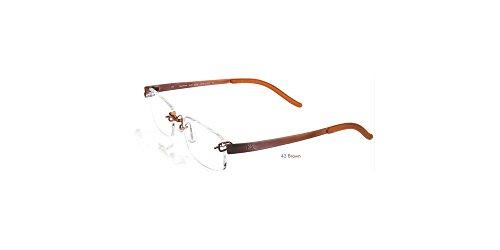 Kazuo Kawasaki Eyeglasses 704 Sarah Palin Eyeglasses, Brown 43 (Size 51, Shape - Glasses Titanium Brands