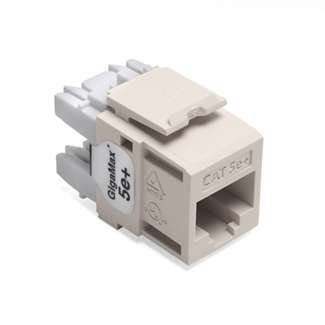 - Leviton 5G110-RT5 Light Almond Category 5e+ Snap in Connector
