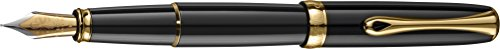 Diplomat Excellence Fountain Pen Black Gold Trims by Diplomat