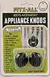 Tops Appliance Knob Fits Shafts Up To 1/4'' Dia. Bakelite Plastic,Black