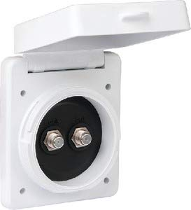 ParkPower by Marinco Dual Cable TV Standard Inlet, White