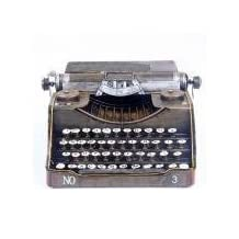 DU&HL Creative Old Fashion Vintage Retro Grocery Tin Typewriter Model For Home Window Decor , S