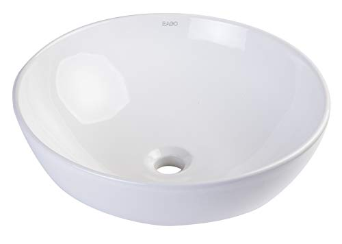 EAGO BA351 18-Inch  Round Ceramic Above Mount Bathroom Basin
