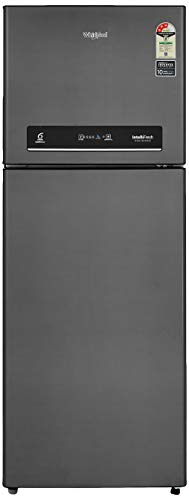 Whirlpool 340 L 3 Star ( 2019 ) Inverter Frost-Free Double-Door Refrigerator (INTELLIFRESH INV CNV 355 ELT 3S, Steel…