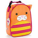 Skip Hop Zoo Kids Insulated Lunch Box, Chase Cat, Orange - Route Insulated Baby Bottle
