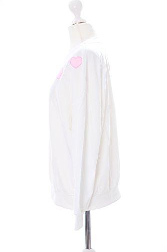 TS-111 Weiß Herz Pastel Goth Lolita Langarm-Shirt Sweatshirt Harajuku Kawaii-Story