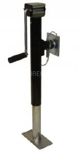 LMX2174 leisure MART 2 x Side winder trailer lift and support jacks with swivel mounting plates 1300kg Pt no