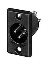 Switchcraft D6M XLR Male 6-Pin Rectangular Metal Shell Chassis Mount (Metal Switchcraft)