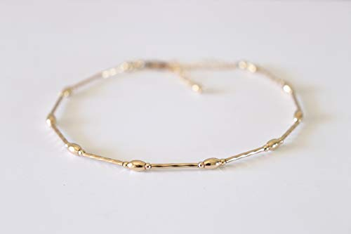 Gold Anklet and Beach Jewelry Simple