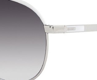 Gucci Sunglasses 1827 / Frame: Silver Palladium with White Lens: Gray ()