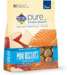 Nature's Recipe Pure Essentials Salmon & Potato Mini Biscuits Dog Treats,  8oz (Pack of 2)