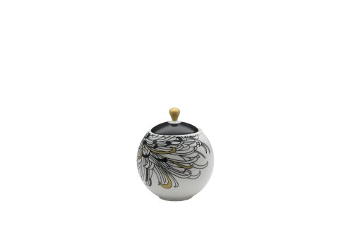 Denby Monsoon Home Chrysanthemum 11-Ounce Covered Sugar (Denby Porcelain Sugar Bowl)