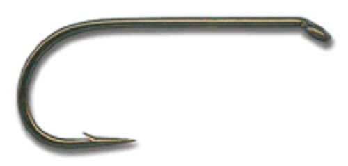 Dry Fly Hook, 94840, Standard, Forged, Down Eye - Bronze ()