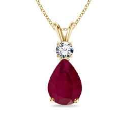 Solitaire-Pear-Shaped-Natural-Ruby-and-Diamond-Pendant-Necklace