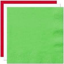 Thali Outlet® - Servilletas de 33 cm, diseño de jardín italiano, 125 x rojo, 125 x blanco, 125 x verde lima, bandera italiana colores (rojo, blanco y verde lima): Amazon.es: Jardín