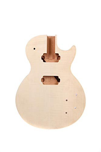 New Guitar Body Flame Maple Mahogany wood DIY Electric Guitar Replacement Set in