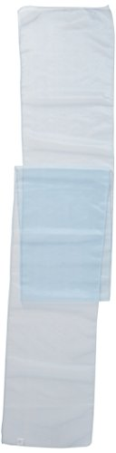 LinenTablecloth 14 x 108-Inch Organza Table Runner Baby Blue -