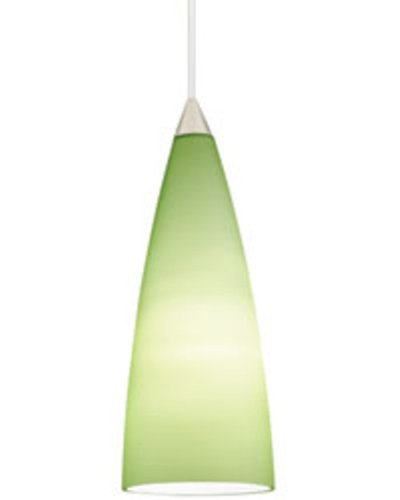 Juno P45MPF3-BRZ-LIM Tall Dome 1-Light CFL Pendant Kit, Lime Green Glass with Vintage Bronze Finish
