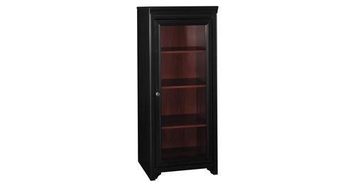 Bush Furniture Stanford Audio Cabinet, Antique Black/Hansen Cherry Bush Furniture 2 Door Cabinet