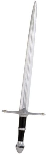 Costume Accessory: Lord Of Ring Aragorn Sword *** Product Description: 36 Inch Long Silver Double Edge Plastic Sword. ***