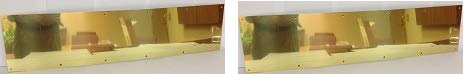Don-Jo 90 Metal Kick Plate, Brass Tone Finish, 34'' Width x 6'' Height, 3/64'' Thick (2-(Pack)) by Don-Jo (Image #1)