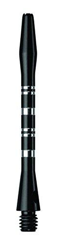 US Darts - Black Striped Aluminum Dart Shafts - 3 Sets (9 shafts), 2BA Medium (2 inch), O'rings