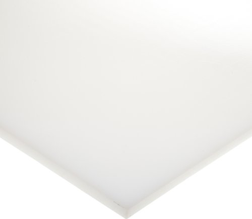 LDPE (Low Density Polyethylene) Sheet, Opaque Off-White, Standard Tolerance, FDA compliant 1/16