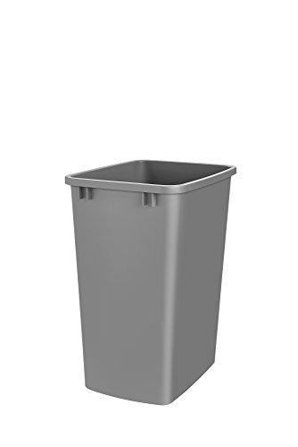 Rev-A-Shelf Rev-A-Shelf-Rv-35-17-35 Quart Replacement Container, 5-9 Gallons, Metallic Silver (Can Square Trash)