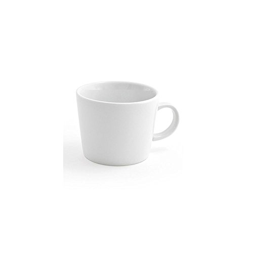 "Front of the House DCS013WHP23 Soho Cup, 3"" Height, 3.75"" Diameter, 10 oz, Porcelain, White (Pack of 12)"