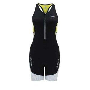 Zoot Sports Women's Ultra Tri Racesuit, Black/White/Flash, Large (Zoot Suit Women)